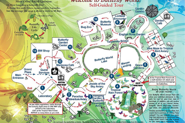 Dubai Butterfly Garden Map