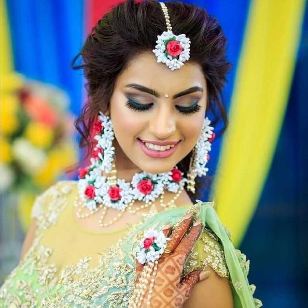Flower Jewelry for Haldi