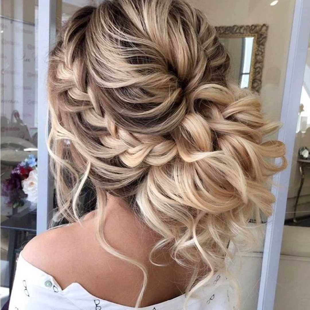 Messy Buns with Curls