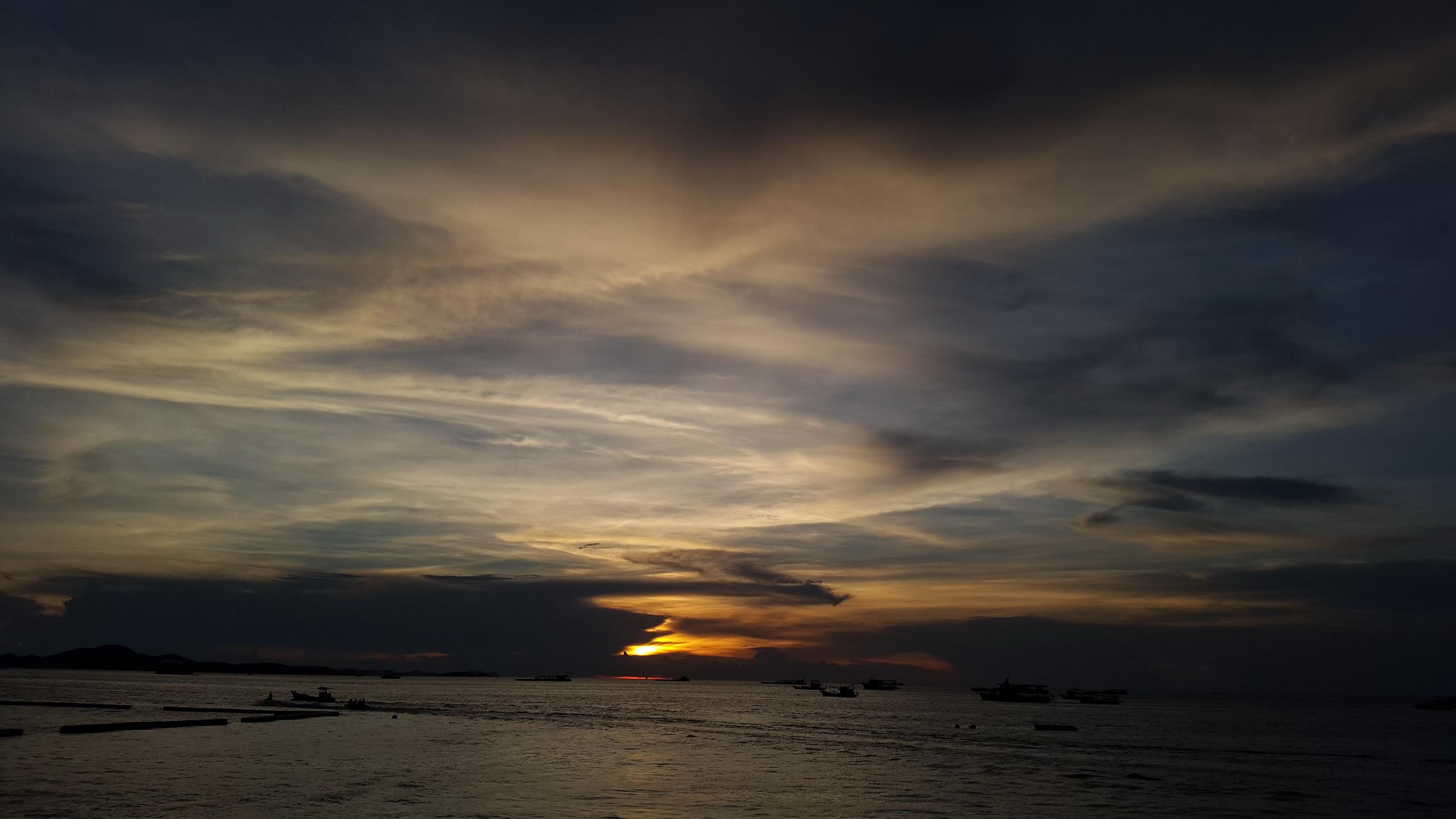 Pattaya Beach At Dusk