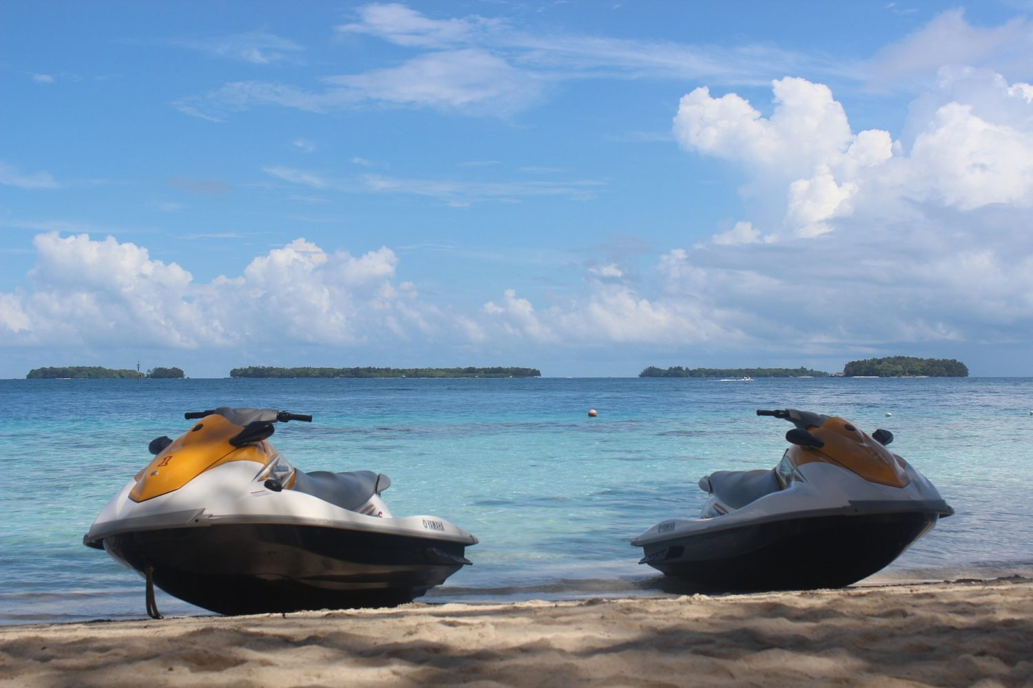 water scooters Coral Island